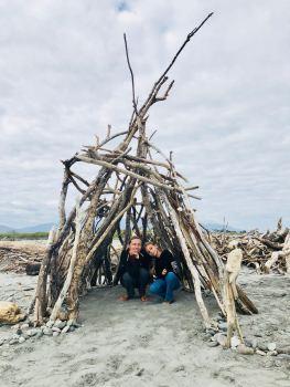 Le tipi terminé - Westport - Nouvelle-Zélande