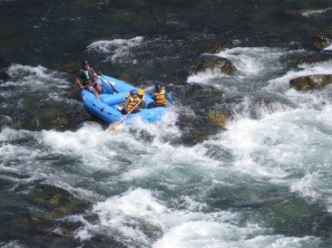 En pleine action - Buller River - Rafting - Nouvelle-Zélande