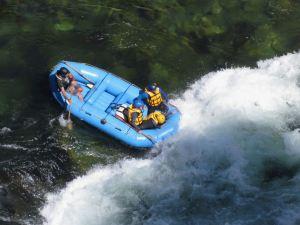 Arrivée dans un rapide - Buller River - Rafting - Nouvelle-Zélande