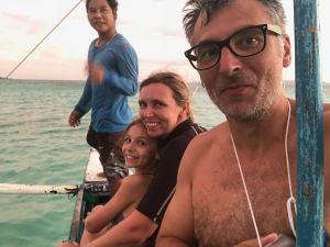 A la pêche sur la petite bangka - Palawan - Philippines