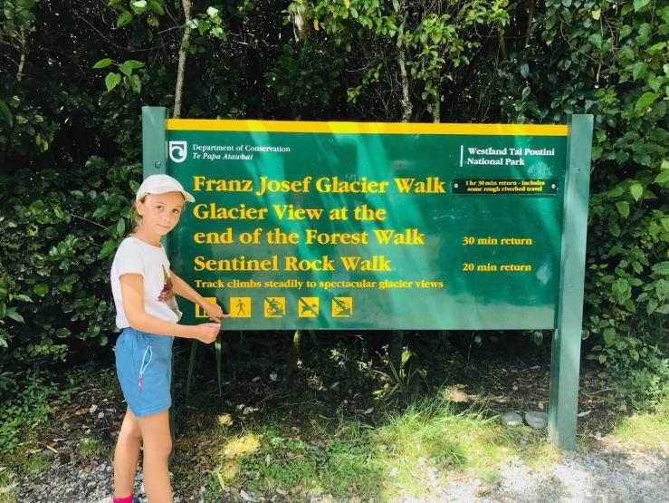 Début de la balade vers le Franz Josef glacier - Nouvelle-Zélande