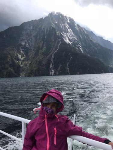 Eden lutte contre les éléments - Milford Sound - Fjordland - Nouvelle-Zélande