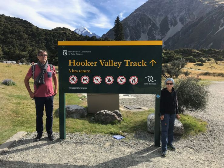 C'est parti pour 3H de balade - Hooker Valley Track - Mont Cook - Nouvelle-Zélande
