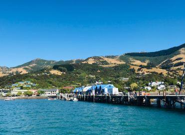Ponton sur le port d'Akaroa - Banks Peninsula - Nouvelle-Zélande