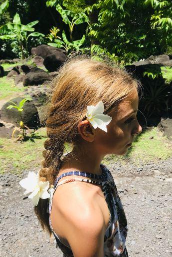 Tresse à la mode Polynésienne - Tahiti - Polynésie