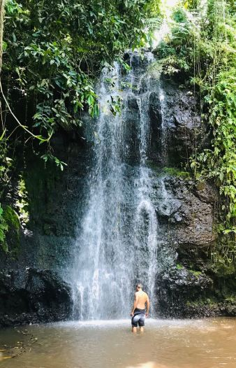 Cascade rafraichissante - Jardin d'eau - Tahiti - Polynésie