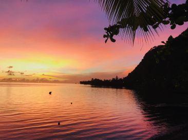 Coucher de soleil - Tahiti - Polynésie
