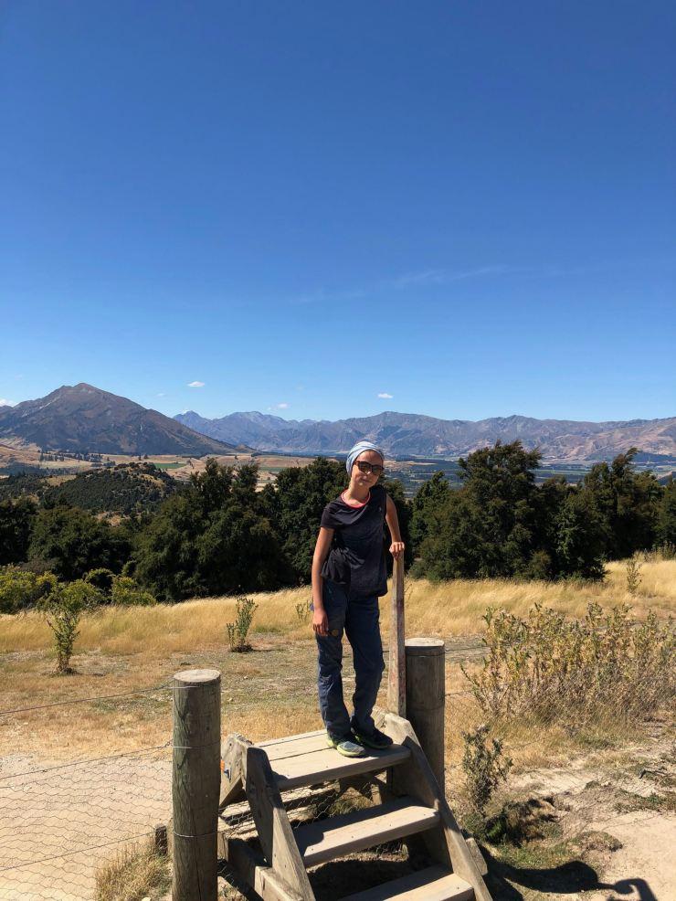 Eden la randonneuse - Iron Track - Wanaka - Nouvelle-Zélande