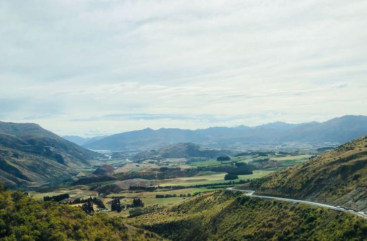 Sur la route - Paysage de Nouvelle-Zélande