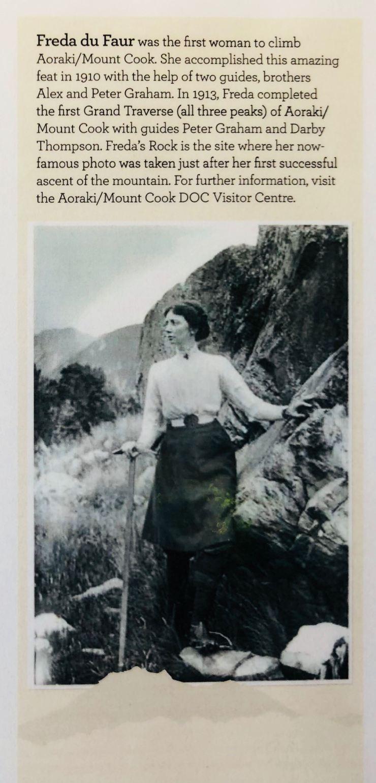 Freda du Faur, première femme à avoir gravi le Mont Cook - Nouvelle-Zélande