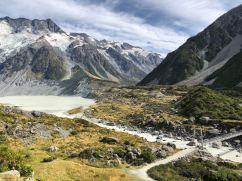 Mueller glacier et son lac - Hooker Valley Track - Mont Cook - Nouvelle-Zélande