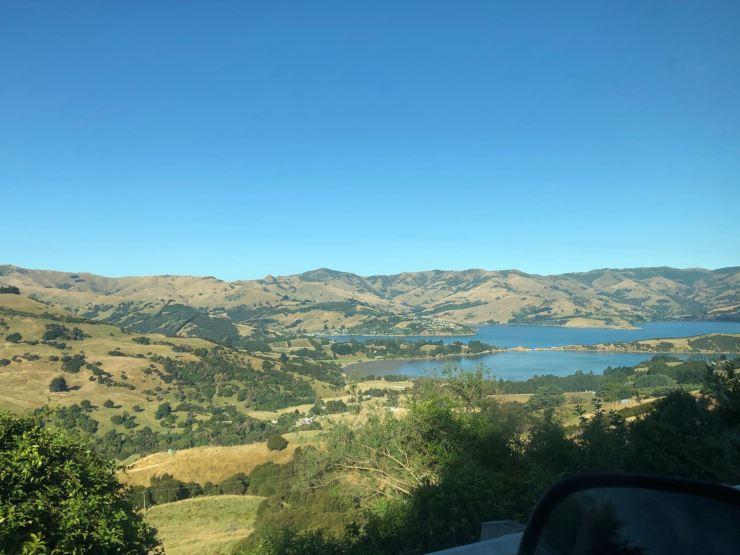 Arrivée dans la Banks Peninsula - Canterbury - Nouvelle-Zélande