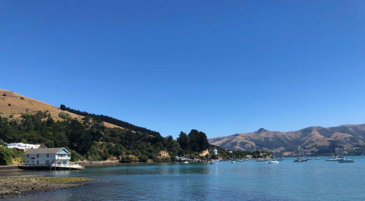 Au revoir Akaroa - Banks Peninsula - Nouvelle-Zélande