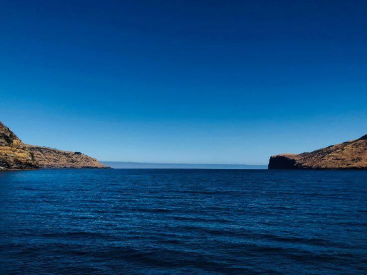 Quand la baie s'ouvre sur la mer - Akaroa - Banks Peninsula - Nouvelle-Zélande