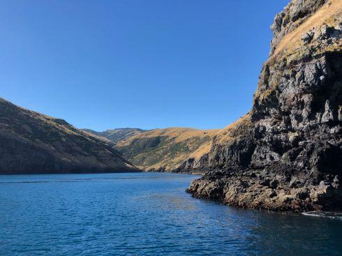 Navigation dans la baie - Akaroa - Banks Peninsula - Nouvelle-Zélande