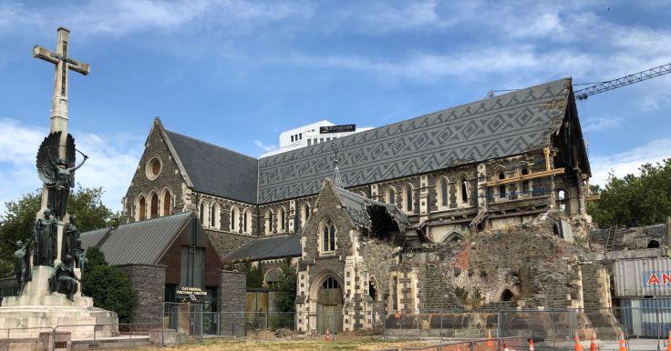 La cathédrale après le tremblement de terre de 2011 - Christchurch - Nouvelle-Zélande