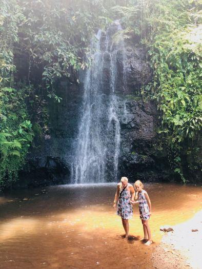 Devant la cascade - Jardin d'eau - Tahiti - Polynésie