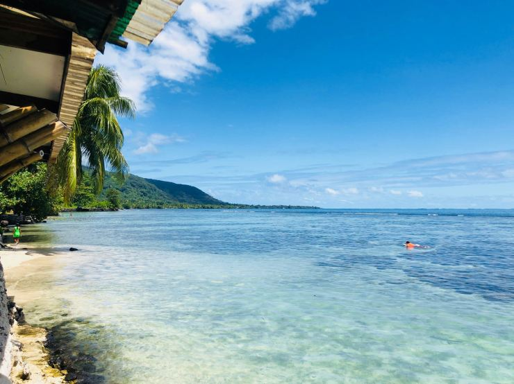 Du bleu, du vrai bleu - plage de Maui - Tahiti Iti - Polynésie