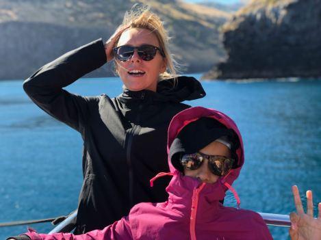 En croisière - Y'a du vent ! - Akaroa - Banks Peninsula - Nouvelle-Zélande