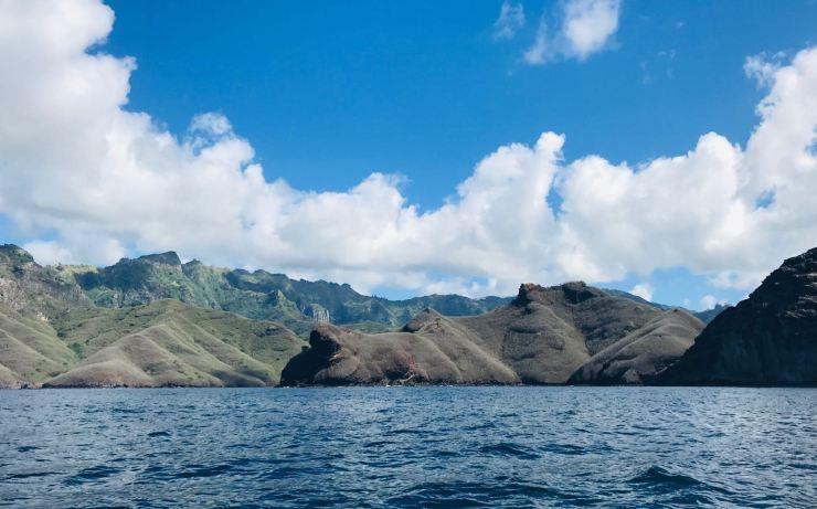 Côte Sud de Nuku Hiva, vue mer- Iles Marquises - Polynésie