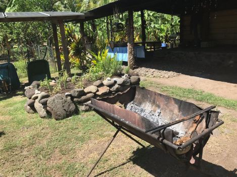 Barbecue - Vallée d'Hakaui - Nuku Hiva - Iles Marquises - Polynésie