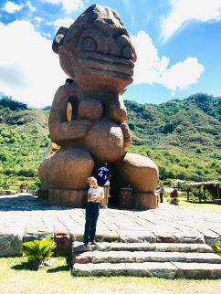 Tuhiva, le tiki géant qui regarde la mer - Taiohae - Nuku Hiva - Iles Marquise - Polynésie