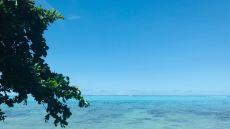 Bleu turquoise vif de la mer - Moorea - Polynésie