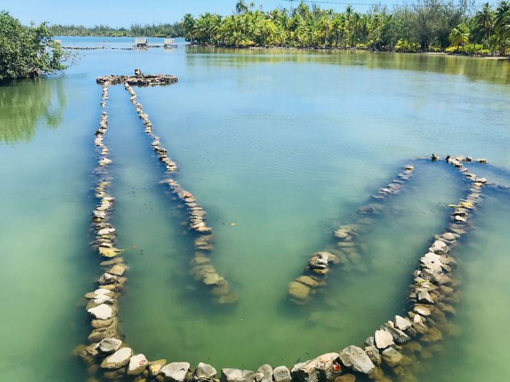 Pièges à poissons ancestraux - Huahine - Polynésie
