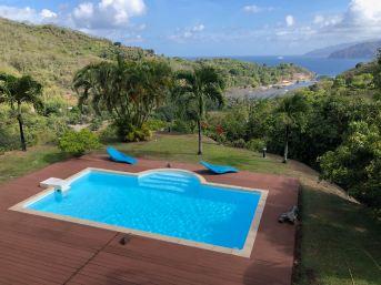 La vue depuis la Villa Enata - Hiva Oa - Iles Marquises Polynésie