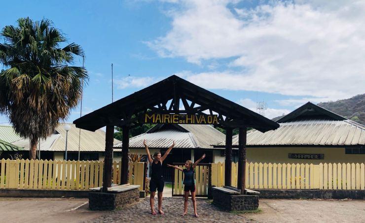 La mairie de Hiva Oa - Iles Marquises - Polynésie