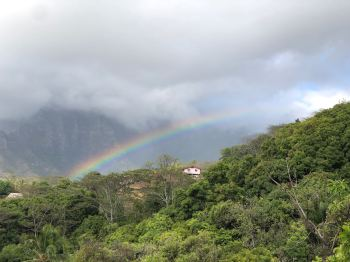 Arc en ciel sur Atuana - Hiva Oa - Iles Marquises - Polynésie