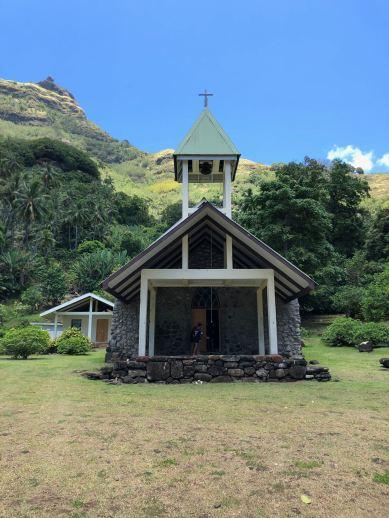 Eglise d'Hapatoni - Tahuata - Iles Marquises - Polynésie