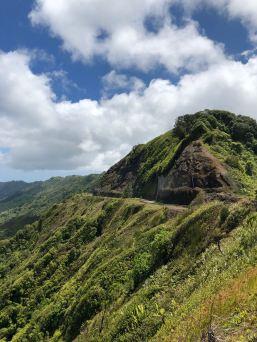 Route qui traverse l'île depuis l'Aéroport - Nuku Hiva - Iles Marquises - Polynésie