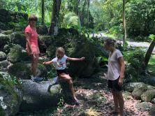 Entres les pierres sacrées des sites archéologiques en amont d' Hitaheu - Nuku Hiva - Iles Marquises - Polynésie