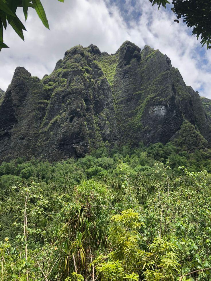 La cascade de Vaipo, hélas asséchée - Vallée d'Hakaui - Nuku Hiva - Iles Marquises - Polynésie