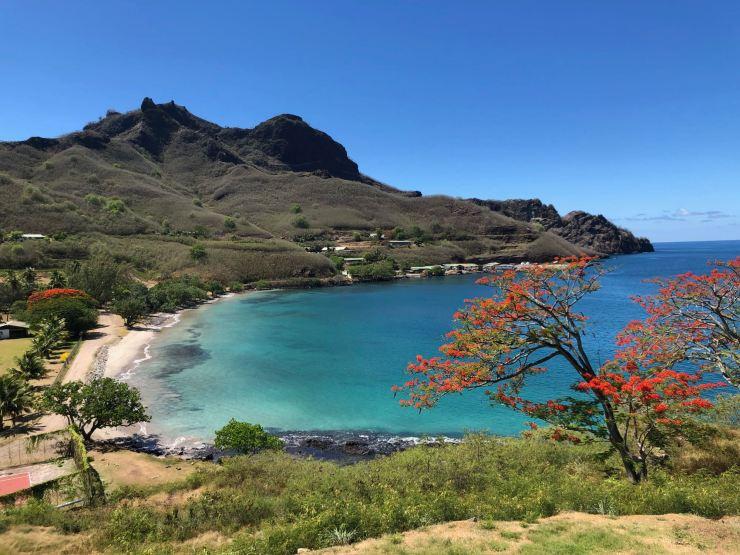 La jolie baie de Taiohae - Nuku Hiva - Iles Marquises - Polynésie