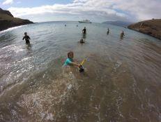 S'amuser dans les flots - Tahuata- Iles Marquises - Polynésie