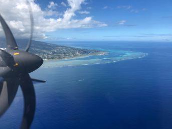 Moorea vue du ciel - Polynésie
