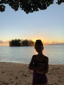 Coucher de soleil face au Motu - Fare Miti - Moorea - Polynésie
