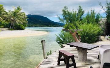 Pause café au Lagoonarium - Moorea - Polynésie
