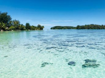 Lagon et Motus - Moorea - Polynésie