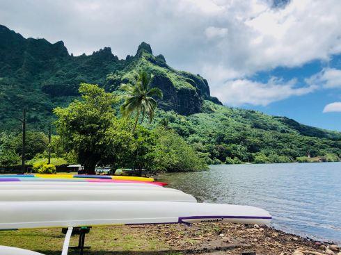 Pirogues - Moorea - Polynésie