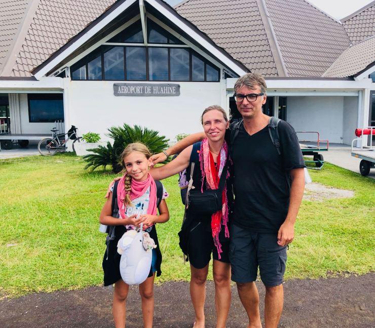 Arrivée à Huhaine - Polynésie