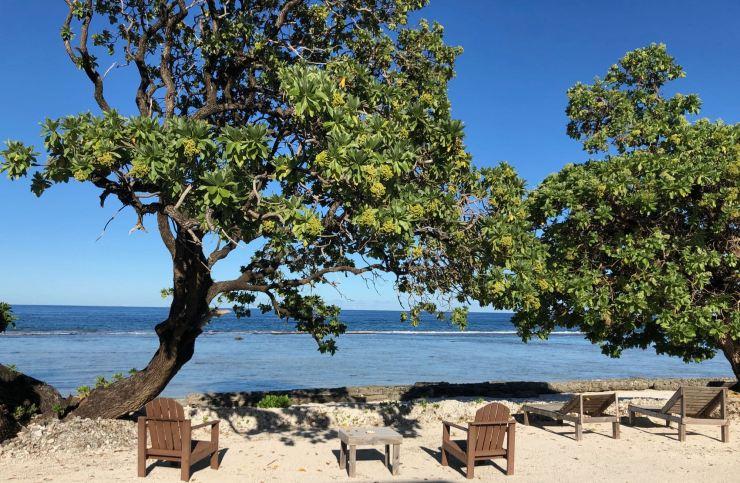 Devant chez nous, au Tifaifai et Café - Huahine - Polynésie