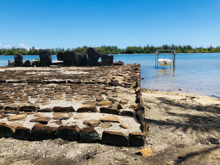 Imposant Marae Manunu- Huahine - Polynésie