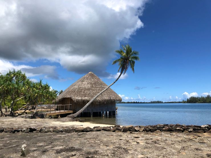 Cocotier, Marae et Fare - Huahine - Polynésie