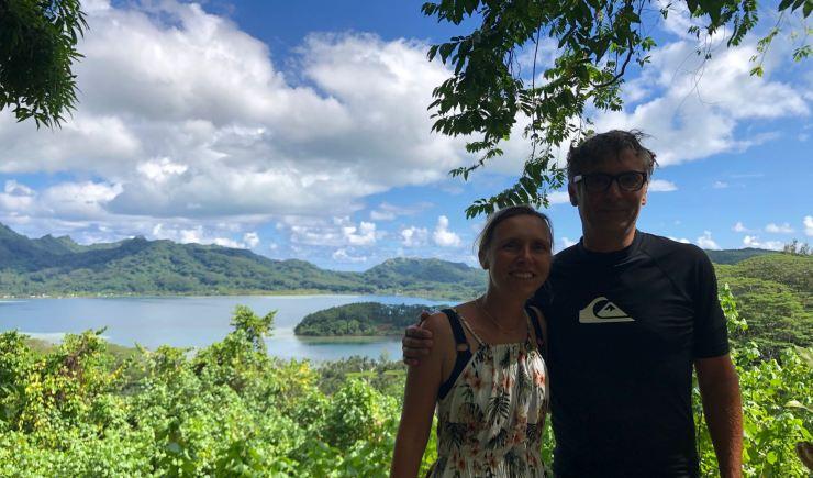 Depuis le Belvédère - Vue sur Huahine - Polynésie