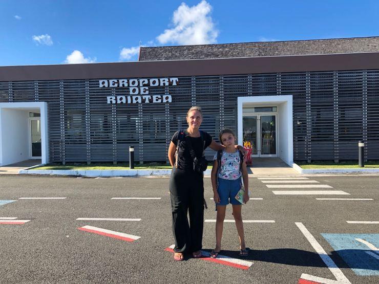Arrivée à Raiatea - Polynésie