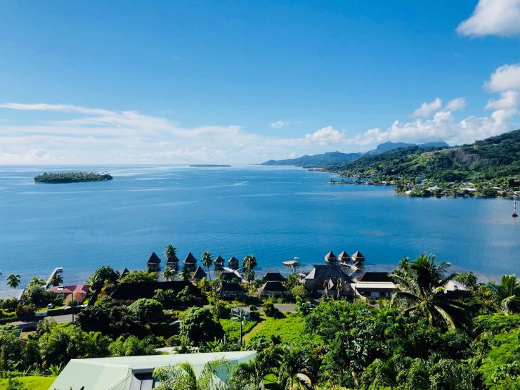 Vue de notre bungalow - Villa Tonoï - Raiatea - Polynésie