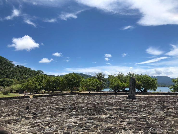 Plateforme cérémonielle - Marae Taputapuatea - Raiatea - Polynésie
